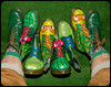Full of green, Dr Martens TMNT. . . (CWhatPhotos) Tags: cwhatphotos photographs photograph pics pictures pic picture image images foto fotos photography that have which with contain tmnt teenage mutant ninja turtles turtle green boot dr marten martens airwair 1460 artistic art view wear foot feet yellow stitching docs dms doc dm eyes mask dm's boots oxbloods laces macro sockswitheyes socks eye