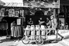 Everyday's life  in Jerusalem.  (3) (Monica@Boston) Tags: israel jerusalem walkingman soldiers monochrome blackandwhite street people damascusgate bike shop