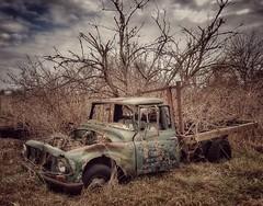 at close range... (HTT) (BillsExplorations) Tags: rust truck target truckthursday abandoned ruraldecay decay forgotten old vintage iowa toolesboro field farm country abandonediowa