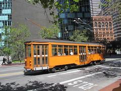 Historic tram car 1856, Market Street, San Francisco, California (Paul McClure DC) Tags: sanfrancisco california apr2013 architecture historic railroad railway