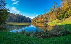 lake Trakošćan (02) (Vlado Ferenčić) Tags: lakes trakošćan vladoferencic laketrakošćan vladimirferencic zagorje hrvatska hrvatskozagorje croatia nikond600 nikkor173528 sky water jezera jezerotrakošćan autumncolors