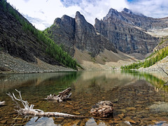 Lake Agnes (Simple_Sight) Tags: canada alberta lakeagnes lake water sky mountains outdoors banffnationalpark ngc