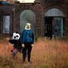 Menacing Panda (interrailing) Tags: ohio masks abandoned menacingpanda mask panda eagle trailerpark quarry