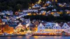 Bergen Havn area (HansPermana) Tags: bergen norway norwegen norge nordic scandinavia skandinavien hafen hafenstadt city cityscape citycenter havn lights longexposure