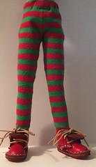 Christmas 2017 Series...Red and Green Striped Tights...For Blythe...