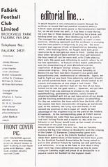 Falkirk vs Partick Thistle - 1976 - Page 2 (The Sky Strikers) Tags: falkirk partick thistle brockville scottish league one bairns view official programme 10p division