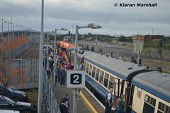 Thurles, 14/10/17 (hurricanemk1c) Tags: railways railway train trains irish rail irishrail iarnród éireann iarnródéireann 2017 generalmotors gm emd 071 rpsi railwaypreservationsocietyofireland munsterdouble 0805connollycork thurles