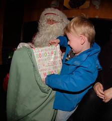 193 of Year 4 - Santa special (Hi, I'm Tim Large) Tags: santa fatherchristmas present gift wrapped avonvalleyrailway boy young fuji fujifilm xf xpro2 fisheye 7artisans 75mm 193 365
