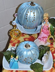Cinderella / Barbie, her stepsisters, and their blue pumpkins / coaches (Will S.) Tags: cinderella barbie pumpkins coaches stepsisters mypics ottawa ontario canada agriculture food museum canadaagricultureandfoodmuseum