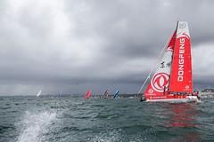 Lisbon stopover, The Mirpuri - HiFly In Port Race. Photo by Jesus Renedo/Volvo Ocean Race. 03 November, 2017.