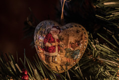 bombka 11 (Andelka_D) Tags: christmas decoration tree cozy diy decoupage winter art handmade santa retro vintage ornaments baubles ball
