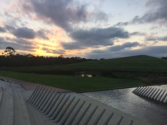 Sunset at Sydney Olympic Park (Simon_sees) Tags: sydney fountain pond lake waterfeature sunset sydneyolympicpark