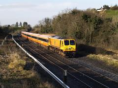 210 & MK3s at MP17 26-Mar-08 (metrovick) Tags: irishrail iarnrodeireann ie201class ie210 210 mk3 brelmk3 emd emdexportloco jt42hcw mp17 sallins railroad railway railwaykildare