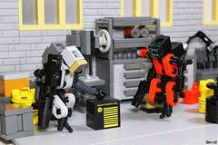 Found something... (Devid VII) Tags: lego moc military mech devid vii mecha minifigs war troopers crew foitsop wars trooper detail details drone droneuary rebel district soldier diorama dr one