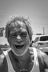 Hoyt-9126 (~La Force~) Tags: d7100 nikon street begging panhandler homeless wifebeater drunk crazy mental hopeless candid dallas dfw frustrated despair laughing smiling