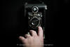 324/365 - Kodak (Jacqueline Sinclair) Tags: antique camera vintage kodak lens hand reach adjust lowkey selfie
