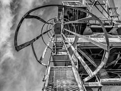 Going up... (DMWardPhotography) Tags: charlestownshipyard monochrome lines architecture machinery ladder blackandwhite bw blackwhite massachusetts