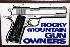 Rocky Mountain Gun Owners (twm1340) Tags: macro closeup colt m1911 pistol sticker decal