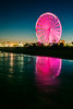 Paint The Beach Pink (matthewkaz) Tags: sunset skywheel myrtlebeach lights beach sand shore shoreline coast coastline night atlanticocean ocean water longexposure reflection reflections ferriswheel sc southcarolina 2017 pink color
