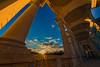 Auf der Gloriette (GHhosi) Tags: austria vienna schönbrunn gloriette fisheye sunset historicbuildings architecture monarchy