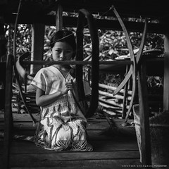 Karen Tribal Girl (terkhomson) Tags: asia asian beautiful blackandwhite culture editorial fabric forest girl hilltribe karen portrait textiles thailand traditional travel weaving woven