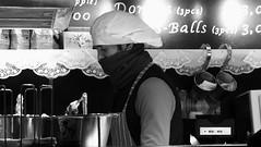 festive market at night 07 (byronv2) Tags: festive festivemarket christmasmarket peoplewatching candid street princesstreet princesstreetgardens edinburgh edimbourg edinburghbynight night nuit nacht blackandwhite blackwhite bw monochrome market mound