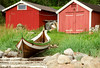 fishermen's houses (atsjebosma) Tags: boat boot houses fishermen red rocks atsjebosma norway gras stoel 2017 chair narvik november
