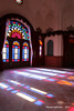 Sun & stained glass windows - Tabatabae Historical House (1834) - Kashan Iran (WanderingPhotosPJB) Tags: islamicrepublic islam iran kashan tabatabaehistoricalhouse 1834 sunlight stainedglass window colours
