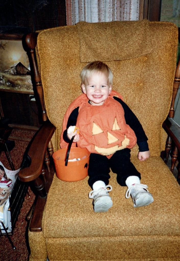 Tony In His Pumpkin Costume Daniel M Hendricks Tags 1987 Tony Costume