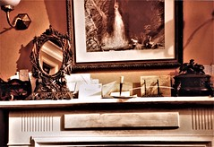 The mantelpiece (photo copyright Jean Upton, 1987)