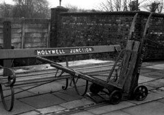 Photo of Holywell Junction seat and Sack truck