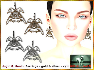 Bliensen - Hugin & Munin - Earrings