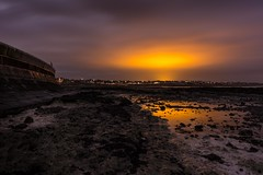 Radiation (James Waghorn) Tags: sigma1020f456 westgateonsea beach d7100 longexposure rocks water reflections thanetearth sea wall kent winter clouds glow england lightpollution