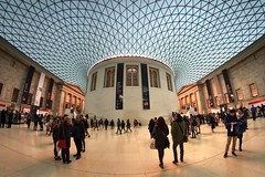 Place where old meets new (PeterThoeny) Tags: britishmuseum london unitedkingdom uk museum building architecture people roof glass glassroof indoor symmetry onepointsymmetry sony sonya7 a7 a7ii a7mii alpha7mii ilce7m2 fullframe rokinon12mm rokinon12mmf28 samyang12mm samyang12mmf28 ultrawidefisheyelens fisheyelens 1xp raw photomatix hdr qualityhdr qualityhdrphotography fav200