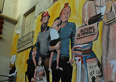 11 - Future is femaile (Street art by Combo) (melina1965) Tags: îledefrance paris 3èmearrondissement 75003 nikon 2017 décembre december coolpix s3700 streetart façade façades