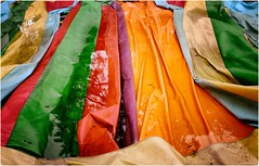 True Colors (Steve Lundqvist) Tags: color colors colour colours paint puddle pool mud reflection red yellow rainbow spectrum band stripe fujifilm x100s
