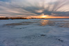 Tawas Winter Sunset Ice (matthewkaz) Tags: tawas tawasbay lake lakehuron greatlakes tawaspointstatepark statepark ice snow winter sunset sky clouds michigan 2010