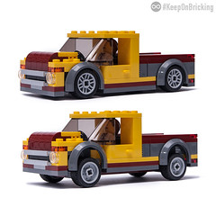 60150 alternate MOC (KEEP_ON_BRICKING) Tags: lego city set 60150 pizza van remake remix model alternate alt alternative build pickup slammed stanced keeponbricking building instructions tutorial howtobuild howtomake diy