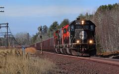 Ramshaw (GLC 392) Tags: ic cn dmir illinois central canadian national duluth missabe iron range ramshaw junction mn minnesota emd sd402 sd403 sd40t2 sd40u sd402q 6261 6013 408 ore railroad railway train tree trees signal search light code line