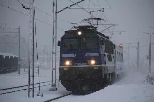 PKP IC EP09-004 , Kraków Batowice train station 30.11.2017