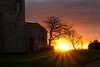 New Day (Paul C Stokes) Tags: clifton bristol observatory sunrise sun sunburst horizon orange pink yellow sky grass lowsun shadow tree trees sony sonya7r a7r 24240 24240mm uk england sw southwest west country 24mm 240mm sonylens sel24240