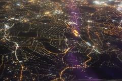 Landing at Heathrow Airport (London, England) on Jet Airways Flight 120 - Friday November 24, 2017 (cseeman) Tags: lhr londonheathrowairport heathrowairport heathrow airports terminals london england unitedkingdom lhr11242017 airplanes passengeraircraft aircraft airlines india17 india2017 greatbritain britain jetairways 777 boeing777 dark lights earlymorning viewfromtheair landing