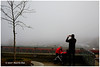 Everyone Is Shooting Foggy - Waterfront XT5162e (Harris Hui (in search of light)) Tags: harrishui fujixt1 digitalmirrorlesscamera fuji fujifilm vancouver richmond bc canada vancouverdslrshooter mirrorless fujixambassador xt1 fujixcamera fujixseries fujix fuji35mmf2 fujiprimelens fixedlens foggy fog misty waterfront downtownvancouver photographer cellphone red colour poppingcolor