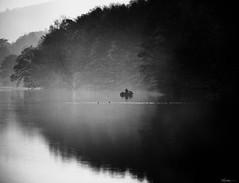 Last week on the riverside (René Mollet) Tags: riverside reflection boat fisherman fishing renémollet street streetphotography shadow silhouette streetphotographiebw blackandwhite bw aarau landscape candite