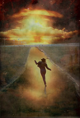 shelly5 (tonywoodphoto) Tags: photoshop textures composite explosion nuclear bomb shelly roaddancing running death happy