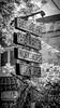 Schilderwald (Nic Ky) Tags: schild raw revaler berlin urban schwarz weis farblos wegweiser party nacht revalerstr musik szene friedrichshain partytourismus touristen girlande
