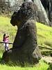 Moaï Tukuturi ou moai assis - Rano Raraku - Île de Pâques (Valparaiso - Chili) (Patrick Verhaeghe) Tags: pascua isla island easter chili valparaiso pâques île raraku rano tukuturi moaï
