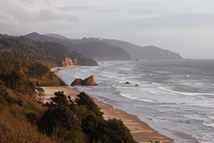 Oregon Coast (russ david) Tags: oregon coast or april 2017 beach landscape pacific ocean trees waves