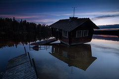 Sauna (Mika Laitinen) Tags: canon5dmarkiv europe finland leefilters calm cloud color lake landscapes longexposure nature outdoors sauna sky sunset water kirkkonummi uusimaa fi