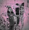 Carnival (kathender1) Tags: carnival fair people monochrome merrygoround pink